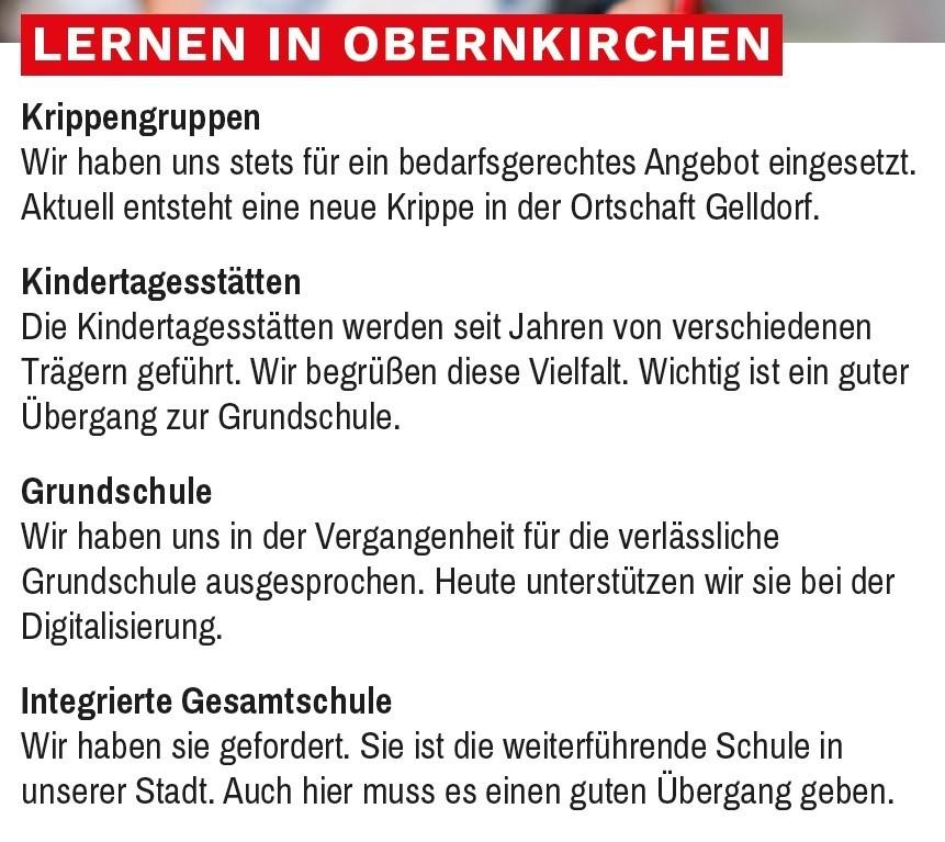 Lernen in Obernkirchen