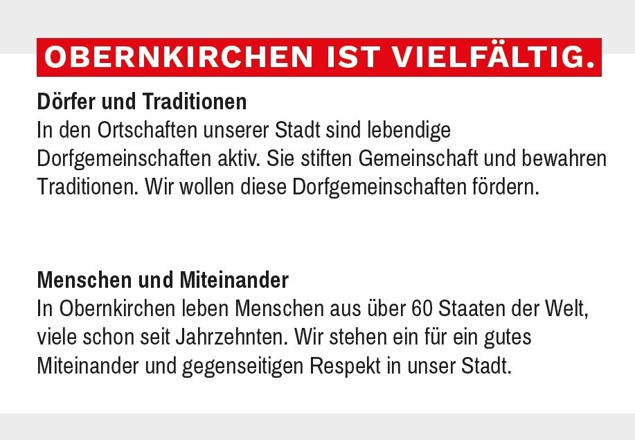 Obernkirchen ist vielfältig